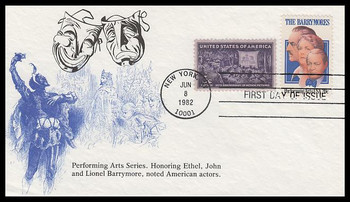 2012 / 20c The Barrymores Combo 1982 K.M.C. Venture FDC