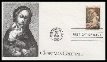 2026 / 20c Madonna and Child : Traditional Christmas 1982 K.M.C. Venture FDC