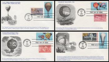 2032 - 2035 / 20c Ballooning Alburquerque, NM Combos Set of 4 K.M.C. Venture 1983 FDCs
