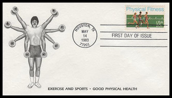 2043 / 20c Physical Fitness 1983 K.M.C. Venture FDC