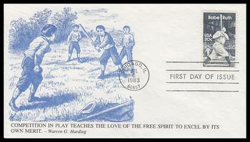 2046 / 20c Babe Ruth : Baseball Great 1983 K.M.C. Venture FDC #2