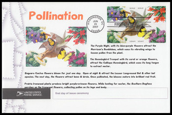 4156b / 41c Pollination Se-Tenant Block 2004 Cacheted USPS First Day Ceremony Program
