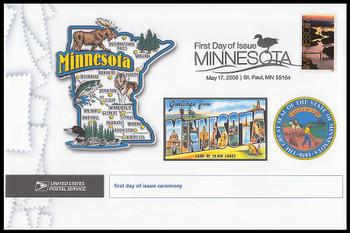 4266 / 42c Minnesota Statehood : 150th Anniversary 2008 Cacheted USPS First Day Ceremony Program
