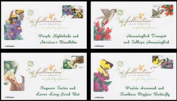4153 - 4156 / 41c Pollination Set of 4 Digital Color Postmark FDCO Exclusive 2007 FDCs