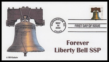 4127m / 44c Liberty Bell SSP 2009 FDCO Exclusive FDC
