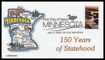 4266 / 42c Minnesota Statehood 2008 FDCO Exclusive FDC