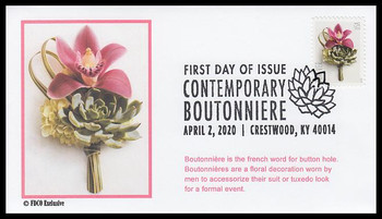 5457 / 55c Contemporary Boutonniere : Wedding Series 2020 FDCO Exclusive FDC