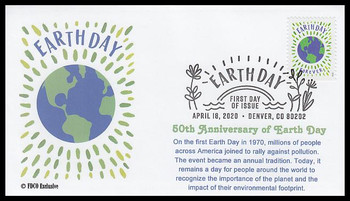5459 / 55c Earth Day 2020 FDCO Exclusive First Day Cover