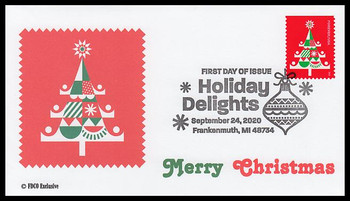 5527 / 55c Christmas Tree : Holiday Delights 2020 FDCO Exclusive FDC
