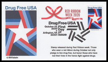 5542 / 55c Drug Free USA 2020 FDCO Exclusive First Day Cover