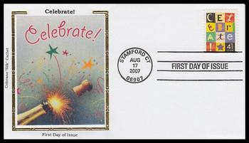 4196 / 41c Celebrate! 2007 Colorano Silk FDC