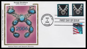 3751 - 3752 / 2c Navajo Jewelry Combo : American Design Series 2005 Colorano Silk FDC