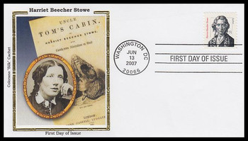3430 / 75c Harriet Beecher Stowe : Distinguished Americans Series 2007 Colorano Silk FDC