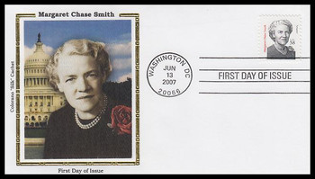 3427 / 58c Margaret Chase Smith : Distinguished Americans Series 2007 Colorano Silk FDC