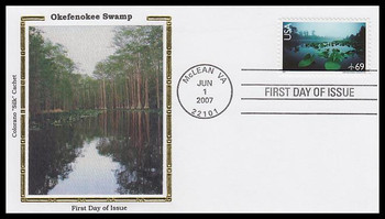 C142 / 69c Okefenokee Swamp Airmail Stamp 2007 Colorano Silk FDC
