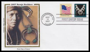 3753 / 37c Navajo Jewelry : American Design Series 2007 Colorano Silk FDC