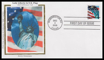 3968 / 39c Statue of Liberty and Flag PSA AVR 2005 Colorano Silk FDC