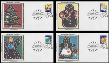 3949 - 3952 / 37c Holiday Cookies Minneapolis, MN Postmark Set of 4 Colorano Silk 2005 First Day Covers