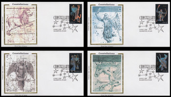 3945 - 3948 / 37c Constellations Set of 4 Colorano Silk 2005 First Day Covers