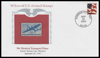 C30 / 30c Modern Transport Plane PCS Commemorative Cover 2002 and Info Card