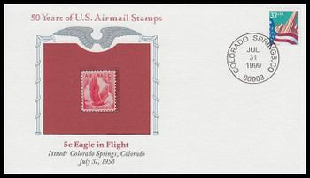 C50 / 5c Eagle In Flight PCS Commemorative Cover 1999 and Info Card