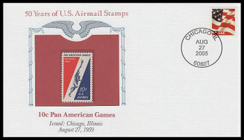 C56 / 10c Pan American Games PCS Commemorative Cover 2005 and Info Card