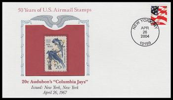 "C71 / 20c Audubon's ""Columbia Jays"" PCS Commemorative Cover 2004 and Info Card"