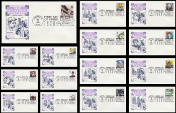 3184a-o / 32c Celebrate The Century ( CTC ) 1920s Set of 15 Artmaster First Day Covers