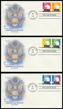 5013 - 5018 / 25c Spectrum Eagles All 6 Stamps On 3 Artcraft 2015 FDCs