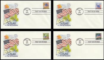 4782b - 4785b / 49c Flags For All Seasons Set of 4 Artcraft 2014 FDCs