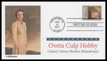 4510 / 84c Oveta Culp Hobby : Distinguished Americans Series 2011 FDCO Exclusive First Day Cover
