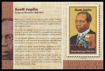 "Scott Joplin Stamp : Black Heritage 4"" x 6"" Collectible Postcard"