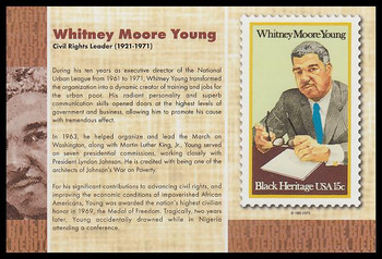 """Whitney Moore Young : Black Heritage 4"""" x 6"""" Collectible Postcard"""
