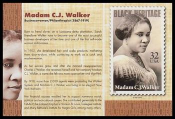 "Madam C.J. Walker : Black Heritage 4"" x 6"" Collectible Postcard"
