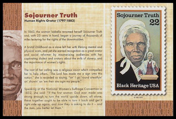 """Sojourner Truth : Black Heritage 4"""" x 6"""" Collectible Postcard"""