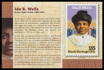 "Ida B. Wells : Black Heritage 4"" x 6"" Collectible Postcard"