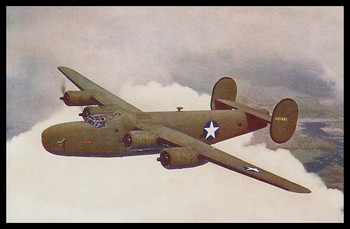 """Liberator Express Modern Colorized WWII 4"""" x 6"""" Collectible Postcard"""