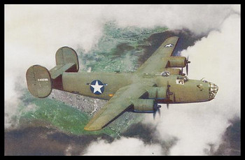 """Liberator Modern Colorized WWII 4"""" x 6"""" Collectible Postcard"""