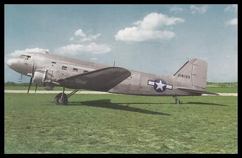 """C-47 Modern Colorized WWII 4"""" x 6"""" Collectible Postcard"""