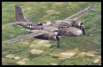 """Douglas A-26 Invader Modern Colorized WWII 4"""" x 6"""" Collectible Postcard"""