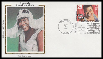 2854 / 29c Bessie Smith : Blues Singer 1994 Colorano Silk First Day Cover