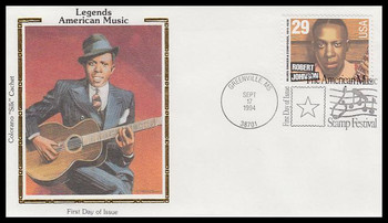 2857 / 29c Robert Johnson : Blues Singer 1994 Colorano Silk First Day Cover