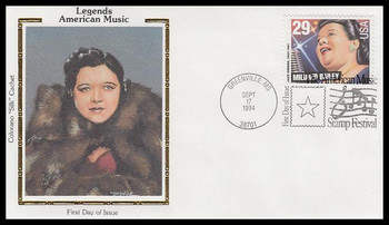 2860 / 29c Mildred Bailey : Jazz Singer 1994 Colorano Silk First Day Cover