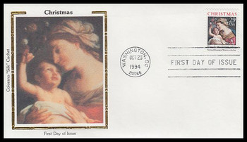 2871 / 29c Madonna and Child : Traditional Christmas Sheet Issue 1994 Colorano Silk First Day Cover