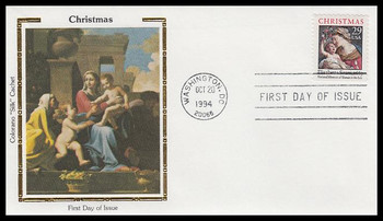 2871a / 29c Madonna and Child : Traditional Christmas Booklet Issue 1994 Colorano Silk First Day Cover