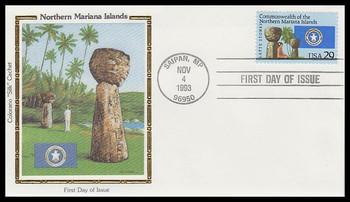 2804 / 29c Northern Mariana Islands 1993 Colorano Silk First Day Cover