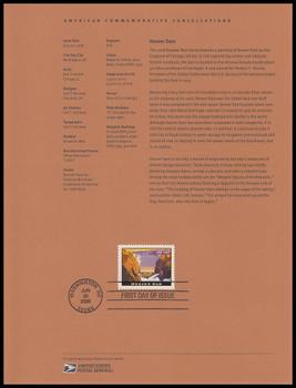 4269 / $16.50 Hoover Dam Express Mail 2008 USPS #08-26 Souvenir Page