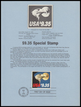 1909 / $9.35 Eagle and Moon Express Mail 1983 USPS Souvenir Page