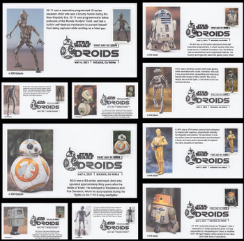 5573 - 5582 / 55c Star Wars Droids Set of 10 FDCO Exclusive 2021 FDCs #1