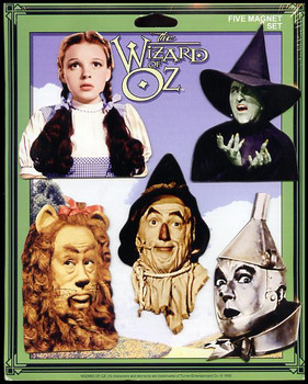 Wizard of Oz 5 Piece Fridge Magnet Set